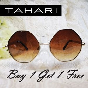 TAHARI Semicircular Metal Fashion Sunglasses